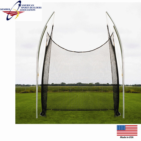 Aluminum 14' Elite Shot Put Cage w/ Net
