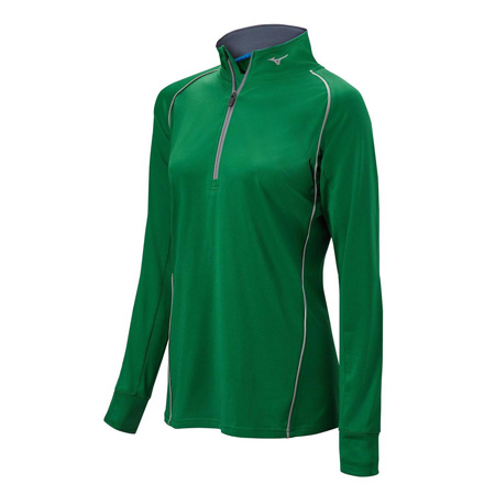 Mizuno Competition 1/2 Zip Girls Top