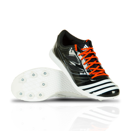 adidas Adizero Pole Vault Triple Jump Spikes Black White Field Event Shoes PV TJ